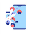 social network people friends on phone app vector image