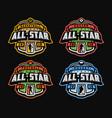 sport logo set football basketball soccer vector image