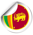 sticker design for srilanka flag vector image vector image