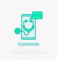 telemedicine thin line icon vector image vector image