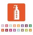 The liquid soap icon Hand wash symbol Flat vector image