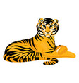 tiger icon cartoon style vector image vector image