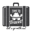 time to travel grunge logo design vector image