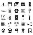 transformer icons set simple style vector image vector image