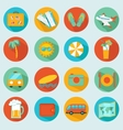 Travelling icons set vector image