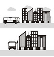 urban city bus vector image vector image