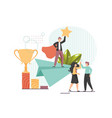 victory concept flat style design vector image