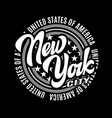 vintage frame with lettering new york city vector image