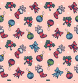 vintage seamless christmas pattern vector image vector image