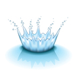 water splashing isolated vector image