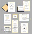 wedding stationery collection set vector image vector image