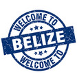 welcome to belize blue stamp vector image vector image