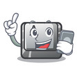 with phone button a isolated with mascot vector image vector image