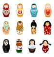 doll matryoshka matrioshka russian toy vector image