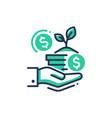 donation - modern single line icon vector image