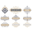 9 Labels and banners vector image vector image