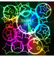 Abstract glow background with stars and rings vector image vector image