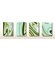 abstract green mixture acrylic paints surface vector image vector image