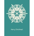 Abstract snowflake on color background vector image vector image