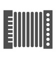 accordion glyph icon musical and instrument vector image vector image