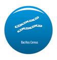 bacillus cereus icon blue vector image vector image
