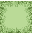 background green leaves vector image