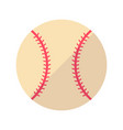 baseball flat icon vector image vector image