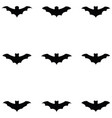 bat icon set vector image