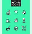 beauty spa - set of line design style icons vector image vector image