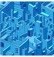 Blue city seamless pattern vector image vector image