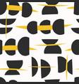 bold abstract semi circle yellow and black vector image