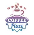 bright coffee shop cafe market label vector image vector image