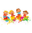 children jump for joy vector image vector image