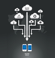 cloud infographic arrow graph vector image vector image