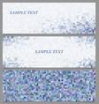Colored tiled rectangle pattern banner design set vector image