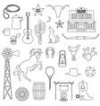 cowboy digital stamps vector image