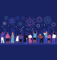 crowd people with children watching celebratory vector image vector image