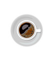 cup of coffee isolated on white background vector image