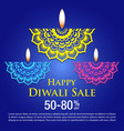 diwali celebration vector image vector image