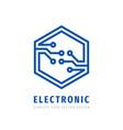 electronic technology concept logo design digital vector image vector image