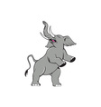 Elephant Prancing Isolated Cartoon vector image vector image