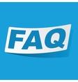 FAQ sticker vector image vector image
