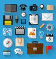 Flat icons bundle vector image vector image
