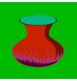 flat on background of potion cauldron vector image