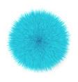 fluffy hair ball vector image vector image
