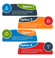 four elements of infographic design with icons vector image vector image