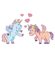hand drawn unicorns in love vector image vector image
