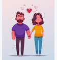 happy couple character design cartoon vector image vector image