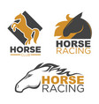 horse racing sport club isolated running vector image vector image