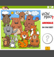 how many animals educational game for children vector image vector image